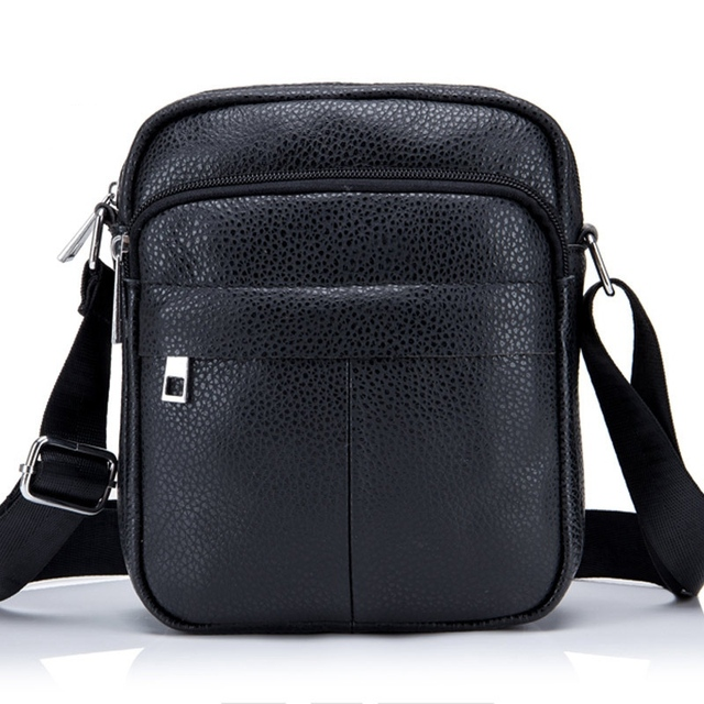8a8ade8303 TMYOY Genuine Leather Men Bags Cowhide Male Shoulder Messenger Bag Vintage  Men s Crossbody Bag Small Leather Handbag Black BH706