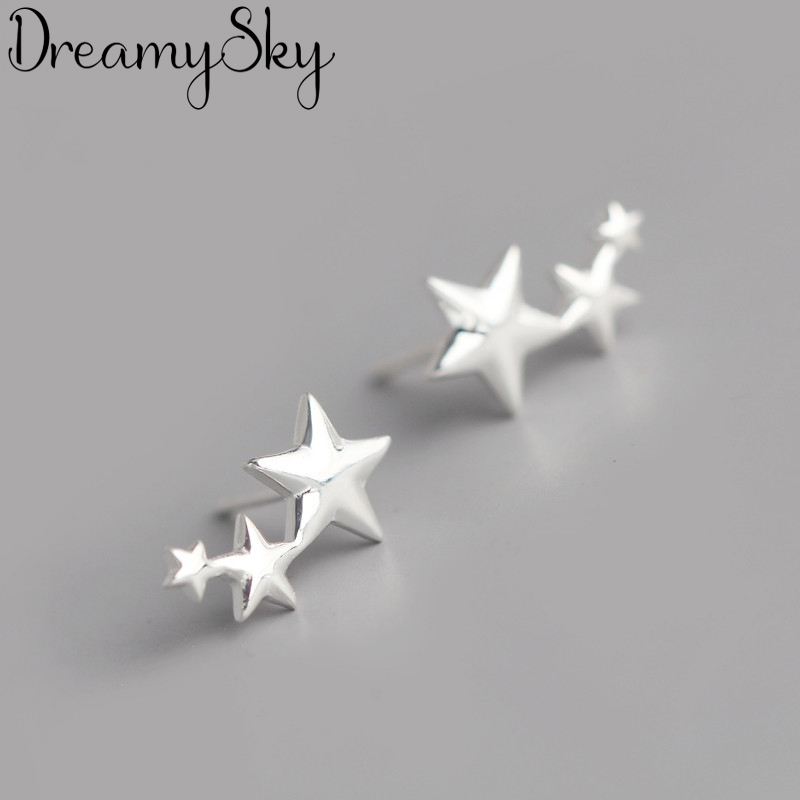 Summer Trendy Silver Color  Star Earrings For Women Jewelry Fashion Ladies Vintage Earrings Pendientes Brincos 2019