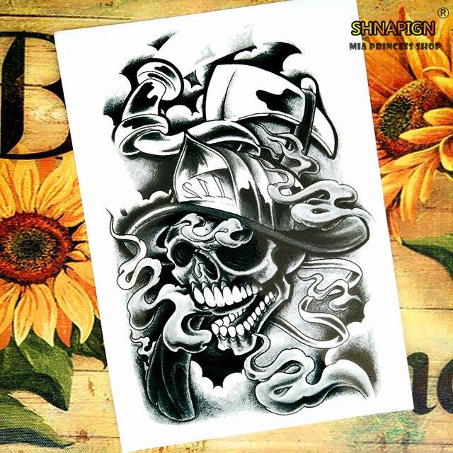 Us 091 18 Offdusza Reaper Tymczasowy Tatuaż Tatuaże Zmywalne Naklejki Body Art 1220 Cm Wodoodporna Tatuaż Henną Stylizacji Home Decor Naklejki