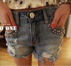 Летние джинсовые шорты с бисером для женщин размера плюс S ~ 2XL, винтажные женские джинсовые шорты с кисточками, джинсовые шорты высокого качества