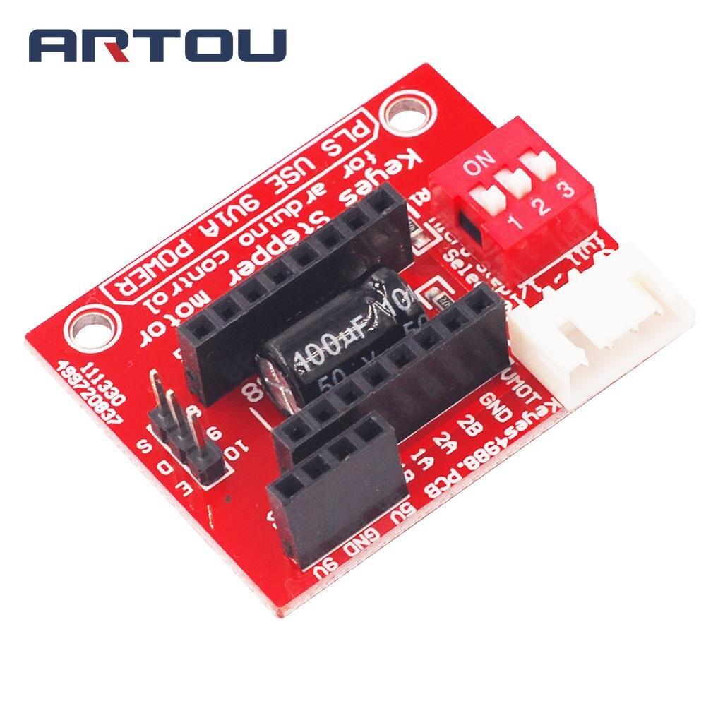 1 шт. A4988 DRV8825 шаговым двигателем Управление доска плата расширения для 3D-принтеры