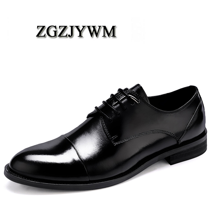 ZGZJYWM New Breathable Classic Business Lace-Up Solid Black/Red Pointed Toe Dress Genuine Leather Wedding Oxfords ShoesZGZJYWM New Breathable Classic Business Lace-Up Solid Black/Red Pointed Toe Dress Genuine Leather Wedding Oxfords Shoes