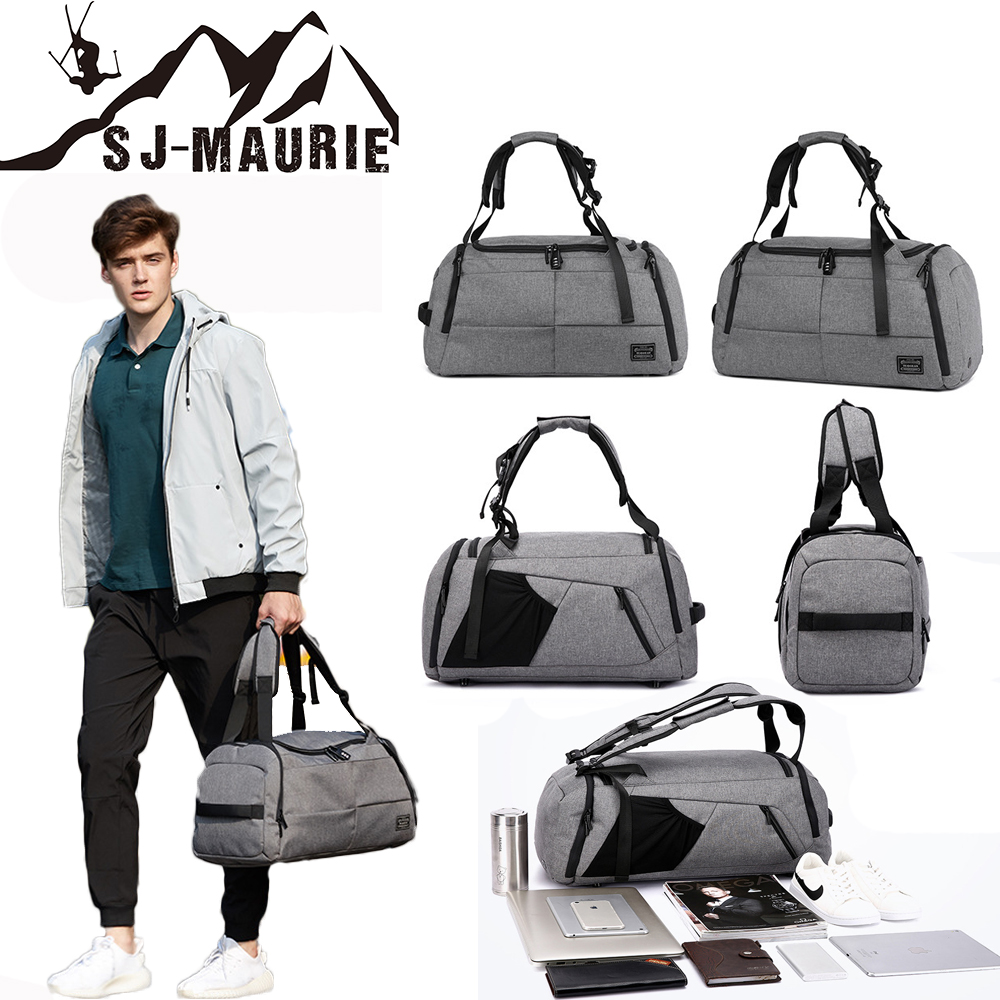 2018 Stylish Men Travel Luggage Bag Sport Fitness Multifunction Gym Bags for Shoes Storage Outdoor Travel Anti Theft Backpack