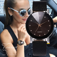 Vansvar Simple Women Watch Luxury Brand Casual Simple Quartz Clock For Women Leather Strap Wrist Watch Relogio Masculino D30