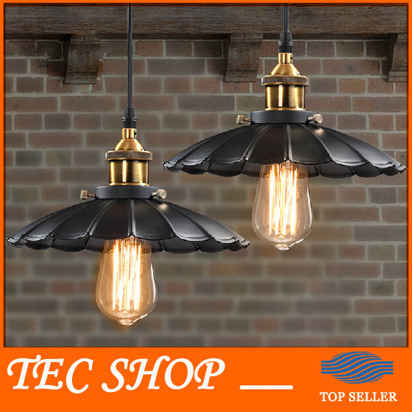 JH 1pcs Vintage American Industrial Light LOFT Retro Nostalgia Lamp Cafe-bar Restaurant LED Lamps Black Umbrella Pendant Lights vintage pendant lights industrial loft american retro lamps creative restaurant dining room lamp bar counter incandescent bulb