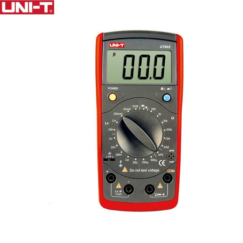 UNI-T UT603 multimètre résistance Inductance condensateurs testeurs LCR mètre inducteur condensateur ohmmètre Diode Transistor
