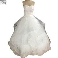 2014 New White Or Ivory Sexy A Line Taffeta Organza Wedding Dress Bridal Gown Custom Made