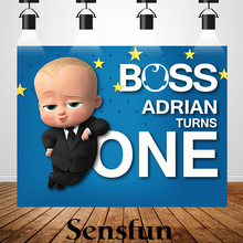 XQ0012 Vinyl Newborn Baby Shower Cartoon Boss Baby Backdrop Children Birthday Backgrounds For Photo Studio 220x150cm