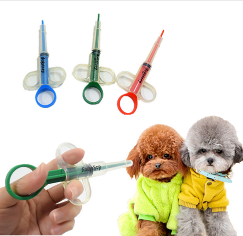 Pet Puppy Needle Feed Applicator Dog Given Medicines