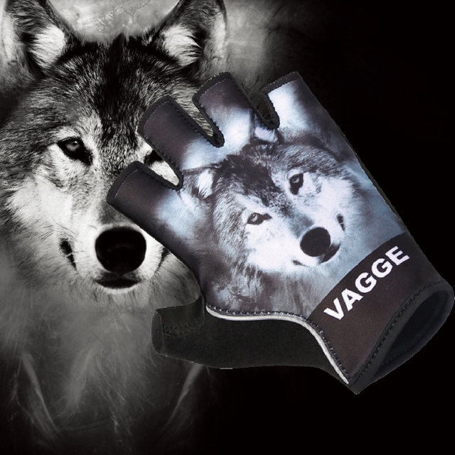 Anti-shock Sport Wolf Cheap Cycling Glove Wholesale Heat Racing Bike Mitten  Breathable Pro Team Sublimation Black Bicycle Gloves 35babe3d3
