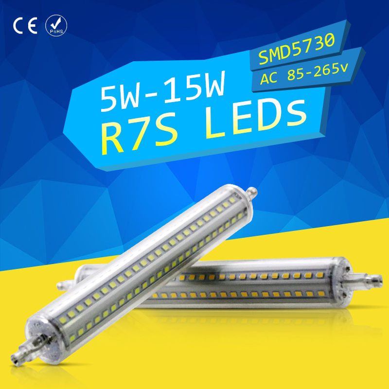 CanLing R7S LED Bulb J78 J118 Corn Light Tube Led R7s 78mm 118mm Ampoule Led 5W 10W 15W Replace Halogen Lamp 85-265V Floodlight