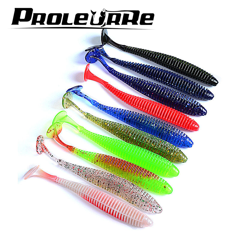 10Pcs 2.4g 8.5cm Pesca Artificial  Soft Lure Japan Shad Worm Swimbaits Jig Head Fly Fishing Silicon Rubber Fish YR-212 sealurer soft lure 6pcs lot 2 2g 75mm for fishing shad fishing worm swimbaits jig head soft lure fly fishing bait fishing lures