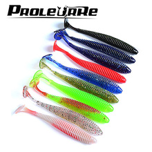 10Pcs 2 4g 8 5cm Pesca Artificial Soft Lure Japan Shad Worm Swimbaits Jig Head Fly