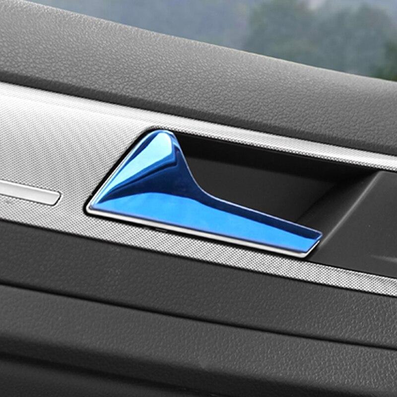 Para Volkswagen Golf 7 Golf 7.5 Car Styling Acessórios Tampa Alça Tigela Porta Interior Guarnição Quadro Adesivo Interior - 5