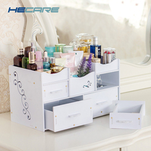 HECARE Plastic Makeup Organizer Waterproof Cosmetic Container Jewelry for High-capacity Make Up Storage Case