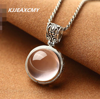 KJJEAXCMY retro 925 Sterling Silver Pendant natural star Hibiscus stone powder