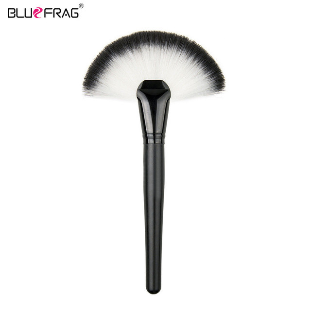 BLUEFRAG Single Sector Fan-shaped Large Size Foundation Make up Brushes Tools Makeup Beauty Cosmetic Face Powder Blush Brush