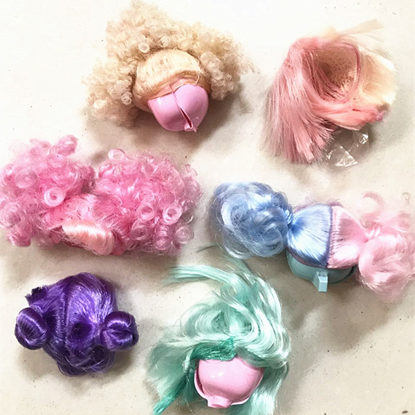 1Piece New Arrival Beautiful doll Wig for LOL dolls Sisters baby doll Hair Wigs Girl Toys DIY Kid Birthday Christmas Gift