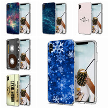 Soft Cases For iPhone6 6S 7 8 Plus Silicone Case Cute snowflake pattern TPU Back Cover For iPhone X XS XR Max Case Fundas W131(China)