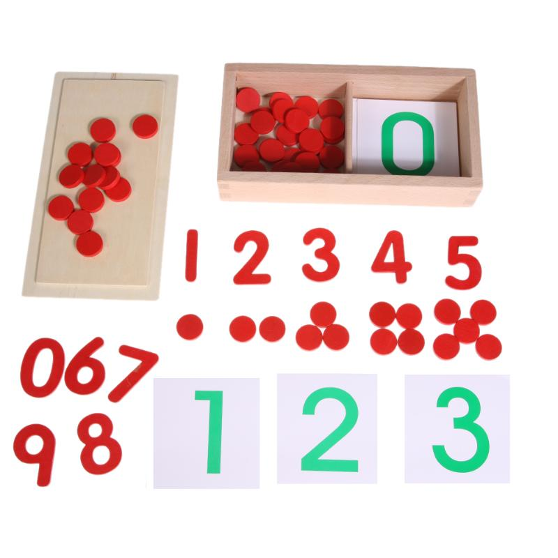 Wooden Number Counting Block Kids Children Preschool Math Learning Teaching Toy Gift Early Educational Kindergarten Tools
