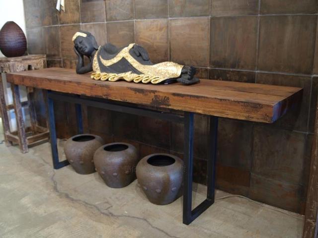146951 Mobilier Design En Bois Massif Entrée Armoire Vieux Fer Console Tables Temple Table Dautel Long Et étroit Vestibule Article Dans
