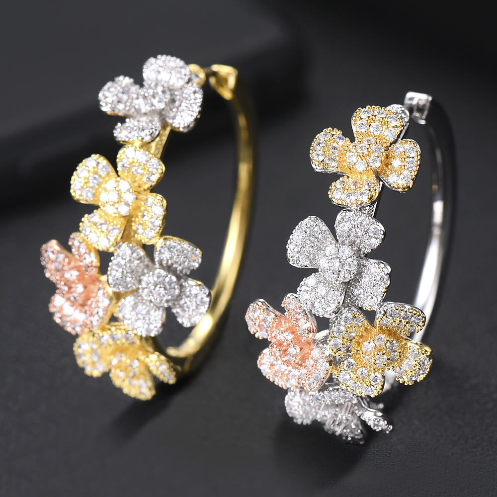 Boucle D'oreille Femme 2019 Charms Silver 925 Original Fashion Design Hoop Earrings For Women Bridal Wedding Accessories