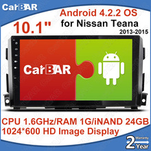 "C200 10.1"" Screen Android 4.2.2  Car DVD GPS Radio Navigation Audio Player for Nissan Teana 2013-2015 1024*600 iNAND 16GB CARBAR"