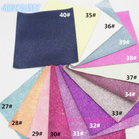 60PCS 20X22CM PER PCS DIY High Quality Glitter Leather synthetic leather &Fabric/faux leather(CAN CHOOSE COLOR)