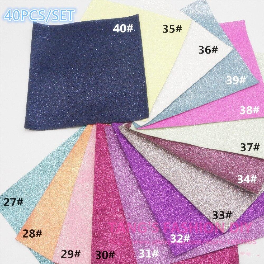 60PCS---20X22CM par PCS bricolage haute qualité en cuir synthétique paillettes et tissu/faux cuir (peut choisir la couleur)