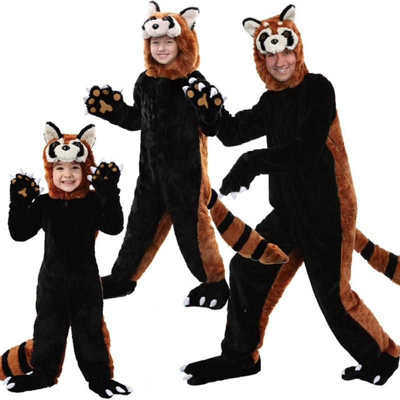 new halloween Animal Adult Gray Raccoon Kigurumi Pajamas Cartoon Black Racoon Onesies Cosplay Costumes Overall Christmas Gift