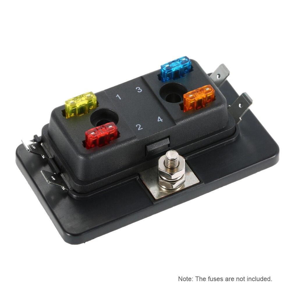 4 Way Mini Blade Fuse Box Holder APM ATM 5A 10A 25A for Car Boat Marine