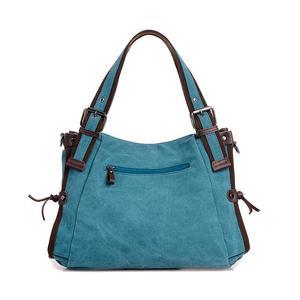Image 3 - Bolso de hombro de lona para mujer, bandolera de mano con asa superior, grande, para compras/bandolera de viaje