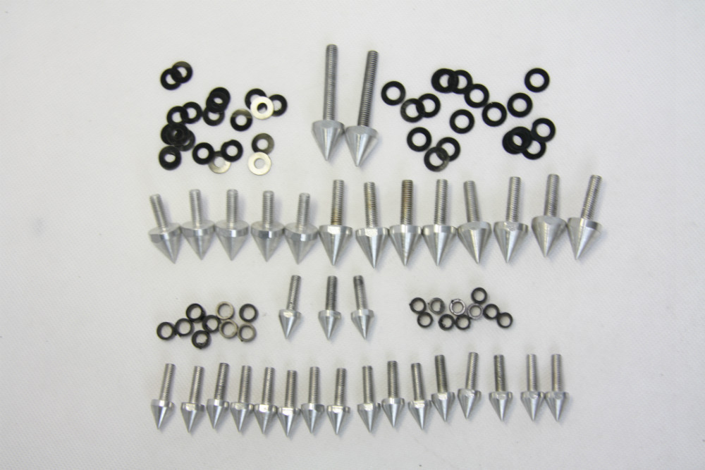 Free shipping motorcycle parts Silver Spike Fairing Bolts Kit For Suzuki 1999-2007  Hayabusa GSX1300R GSX-R 1300 aftermarket free shipping motorcycle parts eliminator tidy tail for 2006 2007 2008 fz6 fazer 2007 2008b lack