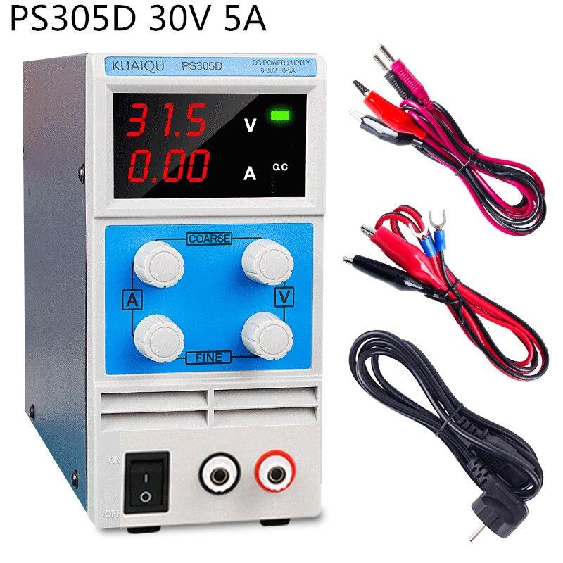 110v 220v Mini Adjustable Digital DC power supply 30V 5A Laboratory Switching Power supply laptop phone