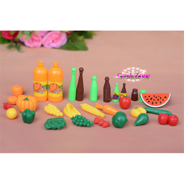 Barbie Toy Food : Miniature furniture play food set for barbie doll house