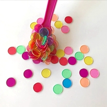 200pcs/bag 7 Colors Enlightenment toy Round Sheet Baby Toys for Counting With Montessori Early educational Learning Aid