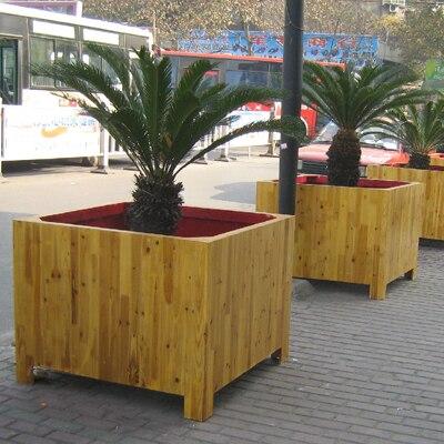 Wood Preservative Wooden Flower Pot