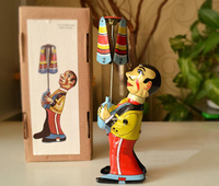 Clockwork Classic Retro Tin Toys Rare Clockwork Juggling Clown Collection