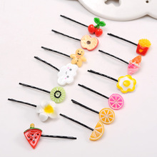 2PCS/pack Funny Fruit Food Hairpin Cute Kawayi Creative Personality Bangs Children Girls Jewelry Accessory Wholesale
