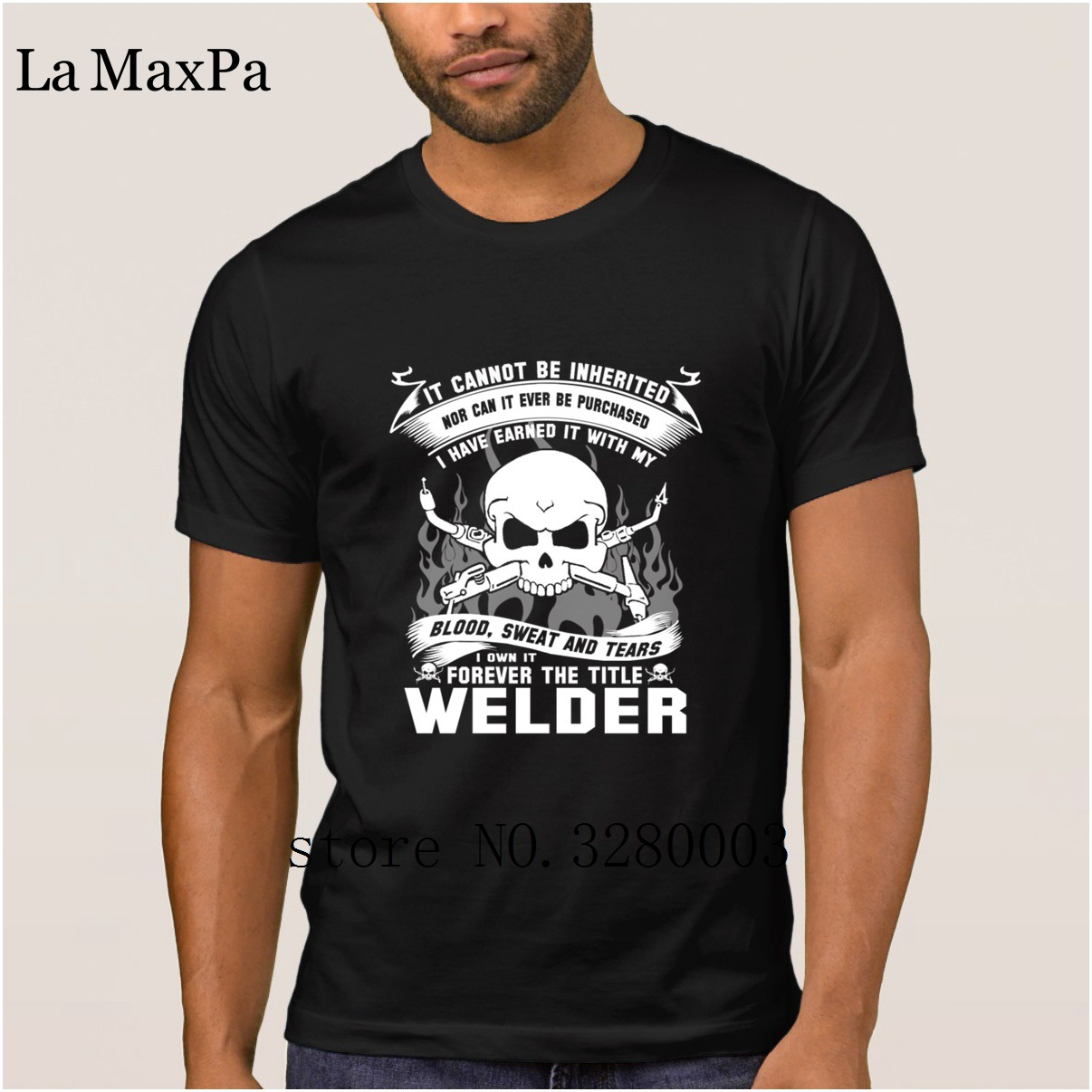 La Maxpa Creature Casual men's t shirt welder funny sayings men t-shirt summer Formal tshirt homme High quality