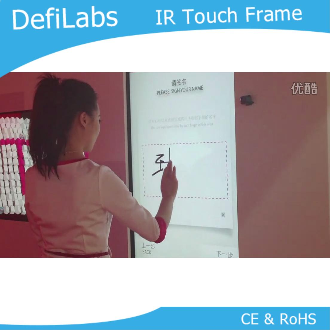 "DefiLabs 10 touch points  70"" IR Touch Screen Panel /IR Touch Frame Overlay,16:9 format"