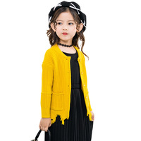 Casual Kids Clothes Sweater For Girls Autumn Winter Girls Sweater Long Sleeve Knitting Sweater Coats Clothing