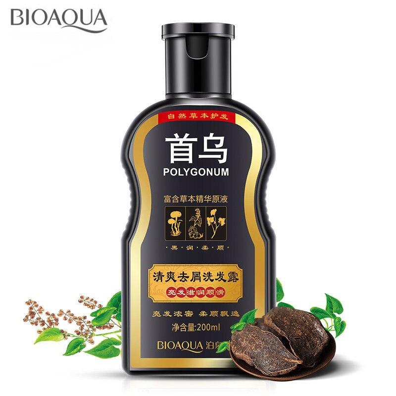 Polygonum Multiflorum Anti-Schuppen Shampoo Für Anti Haarausfall Feuchtigkeitsspendende Erfrischende Oil Control Schwarz Haar Pflege 200 ml