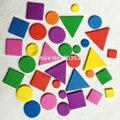 1000 ШТ. (4 bags)/МНОГО. пена Нерегулярные геометрическая фигура наклейки, Детские игрушки Скрапбукинг комплект. в начале образования DIY. детский сад ремесло