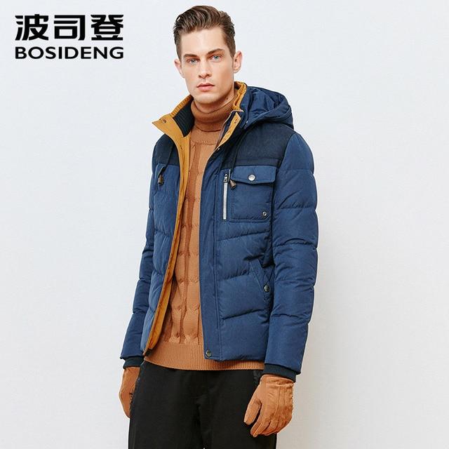 BOSIDENG высокое качество Теплая мужская куртка ветрозащитная Повседневная Верхняя одежда толстый пуховик Мужское пальто парка плюс размер B1501131