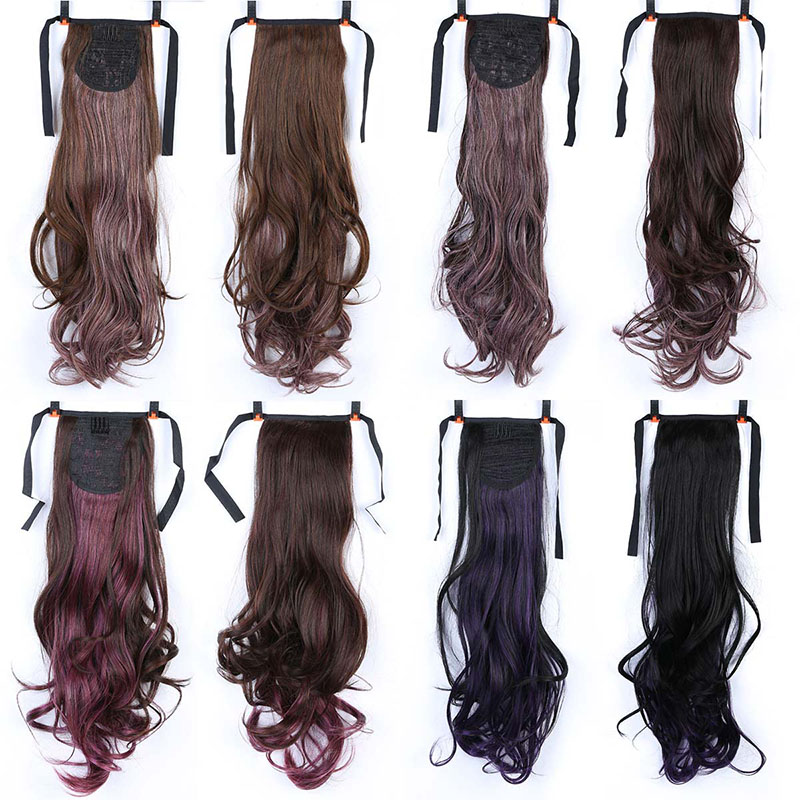 JINKAILIWIG Long Curly Ponytail Claw Drawstring wavy Ponytails Heat ResistantHair for Wo ...