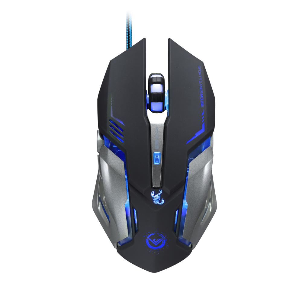 Promotion Game Mouse 3500 DPI 6 Button Optical USB Wired Gaming Steel Mouse Mice