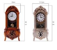 Decorative Retro Table Desktop Clocks Living Room Bedroom Chinese Vintage Alarm Clock Nostalgic Ornaments Table Desktop Watches