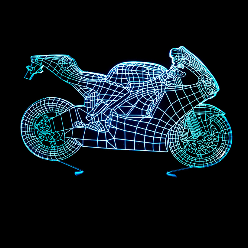 motorcycle 3D night light (2)