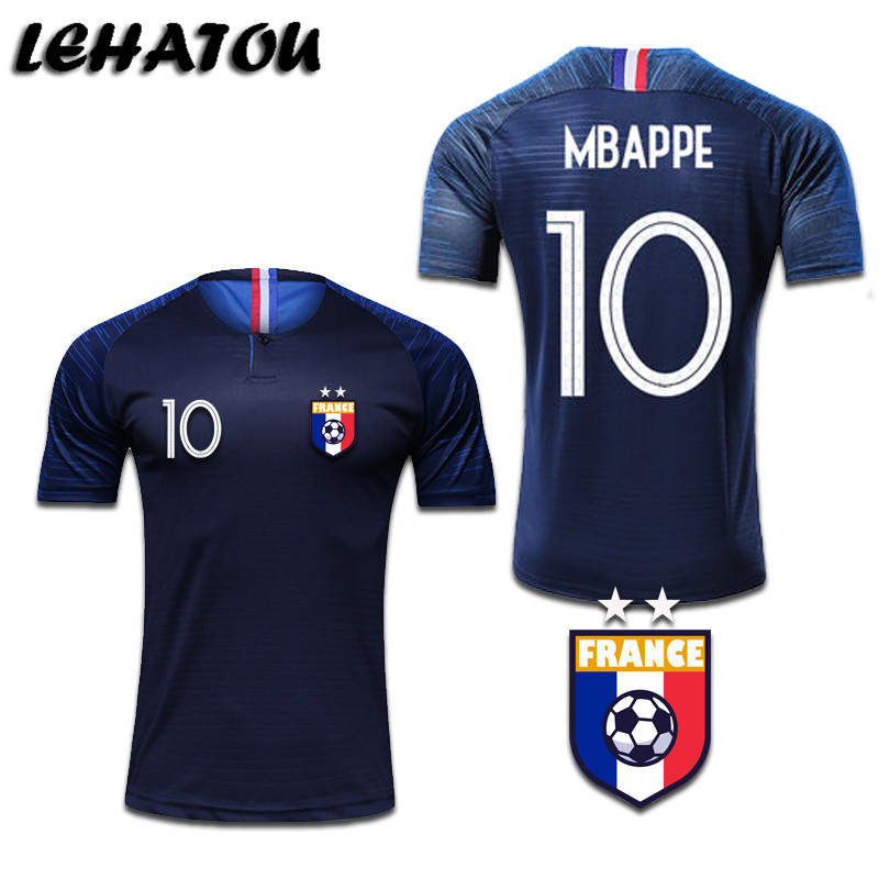 info for c5636 64710 Football Shirts World Cup 2Star France White Blue Mbappe ...
